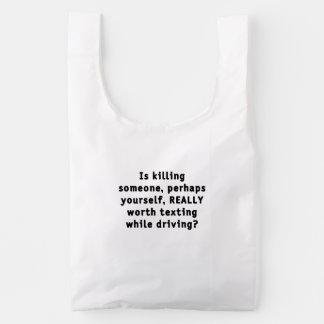 Is killing someone, perhaps yourself, REALLY...? Reusable Bag