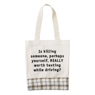 Is killing someone, perhaps yourself, REALLY...? Zazzle HEART Tote Bag