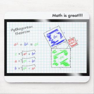 Is Math great! - The theorem of Pythagoras Alfombrillas De Ratón
