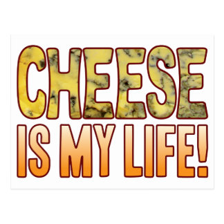Is My Life Blue Cheese Postcard