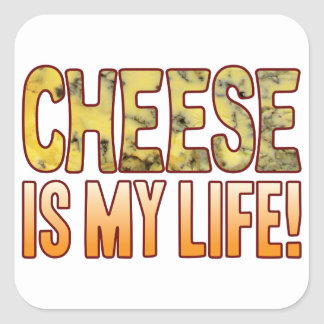 Is My Life Blue Cheese Square Sticker