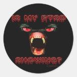 Is My PTSD Showing? Round Sticker