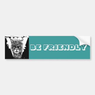 is nice! Alpaca - autostickers Bumper Sticker