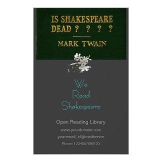 Is Shakespeare Dead? Flyer