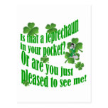Is that a leprechaun in your pocket post card