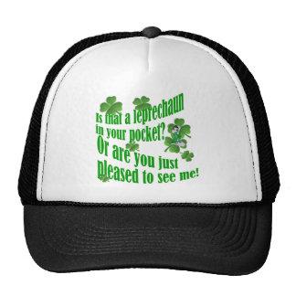 Is that a leprechaun in your pocket trucker hat