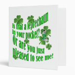 Is that a leprechaun in your pocket vinyl binders
