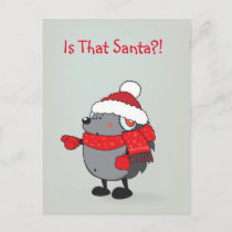 Is that Santa ?! Holiday Postcard