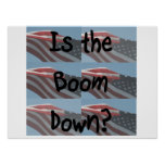 Is the boom down? Flag background Posters