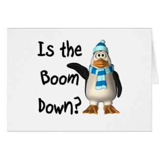 Is the boom down? With penguin Stationery Note Card