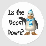 Is the boom down? With penguin Sticker