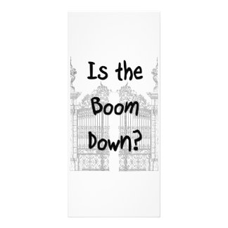 Is the boom down? Words with grey gates Customized Rack Card
