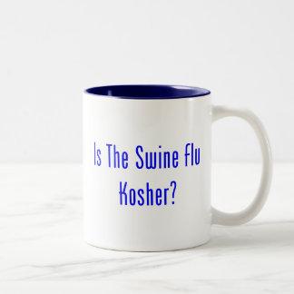 Is The Swine Flu Kosher? Two-Tone Coffee Mug