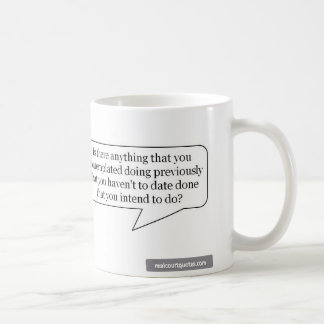 Is there anything that you contemplated doing? classic white coffee mug