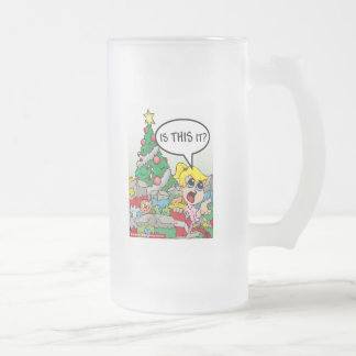 Is This It Christmas Frosted Glass Beer Mug