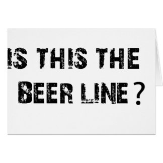 Is This The Beer Line Card