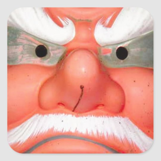 Is this the face of Santa? Square Sticker