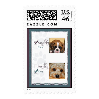 Is your dog naughty or nice? stamps
