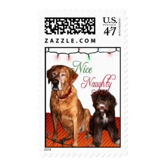 Is your dog naughty or nice? stamp