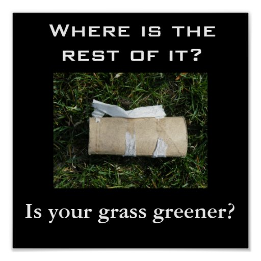 Is your grass greener? poster