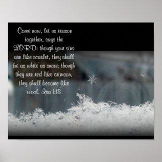 Isa 1:8 ~ Snowflake Photo Poster