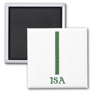 Isa 2 Inch Square Magnet