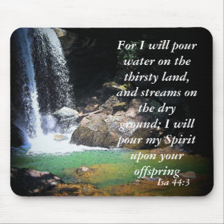 Isa 44:3 mouse pad