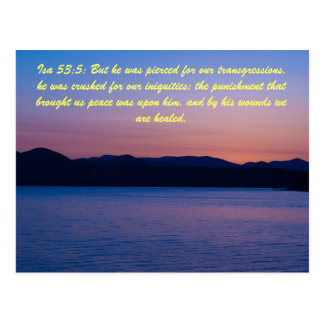 Isa 53:5: But he was pierced for our transgression Postcard