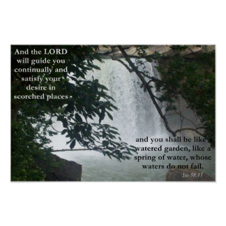 Isa 58:11 poster