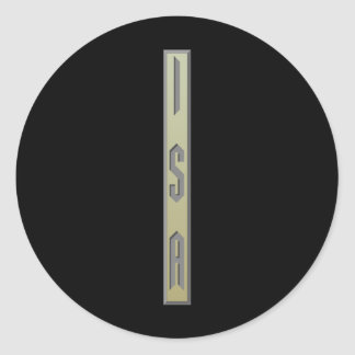 Isa Rune gold Classic Round Sticker