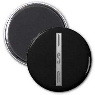 Isa Rune grey 2 Inch Round Magnet