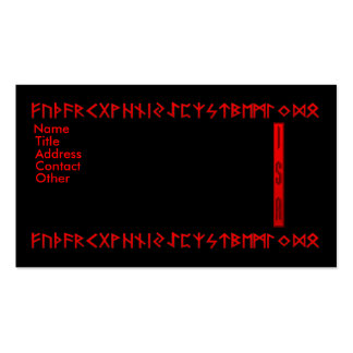 Isa Rune red Double-Sided Standard Business Cards (Pack Of 100)