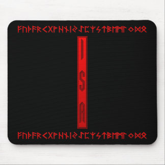 Isa Rune red Mouse Pad