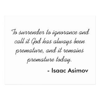 Isaac Asimov Postcards