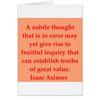 isaac asimov quote greeting cards