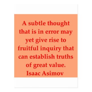 isaac asimov quote post cards