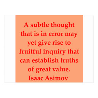 isaac asimov quote postcard