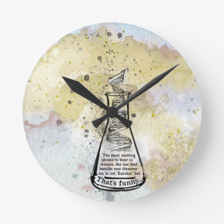 Isaac Asimov Quote Round Clock