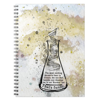 Isaac Asimov Quote Spiral Notebook