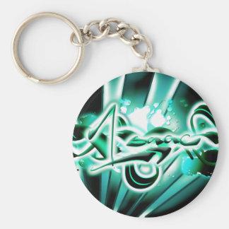 Isaac Basic Round Button Keychain