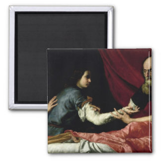 Isaac Blessing Jacob, 1637 2 Inch Square Magnet