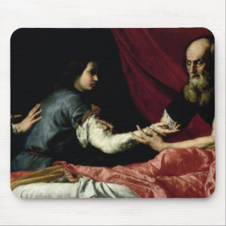 Isaac Blessing Jacob 1637 Mouse Pad