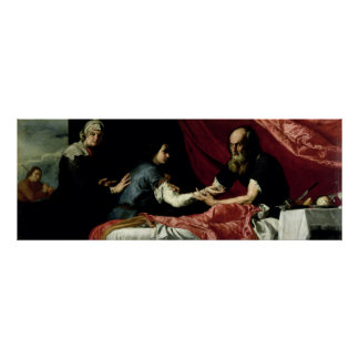 Isaac Blessing Jacob, 1637 Poster