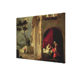 Isaac Blessing Jacob Stretched Canvas Print