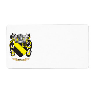 Isaac Coat of Arms (Family Crest) Custom Shipping Labels