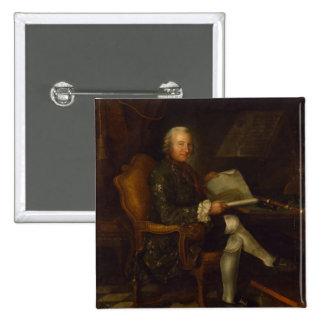 Isaac Egmont von Chasot at his Desk , 1750 Pinback Button