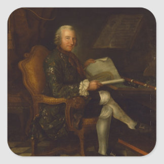 Isaac Egmont von Chasot at his Desk , 1750 Square Sticker