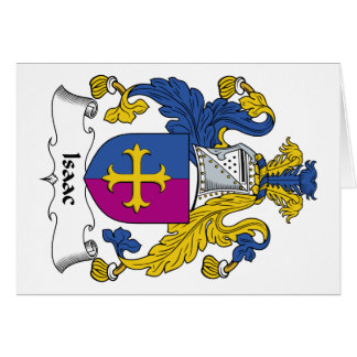Isaac Family Crest Greeting Cards