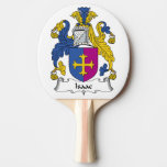 Isaac Family Crest Ping-Pong Paddle