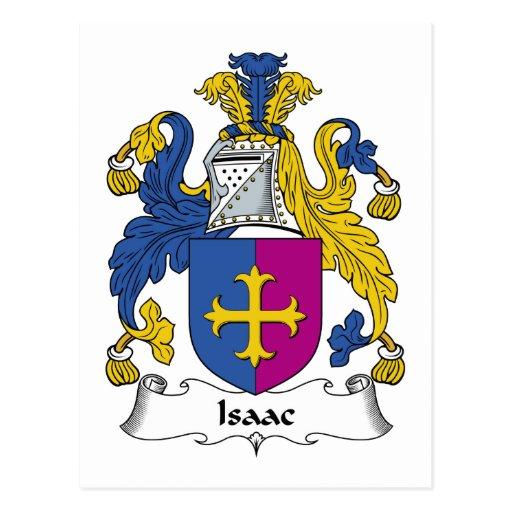 Isaac Family Crest Postcard